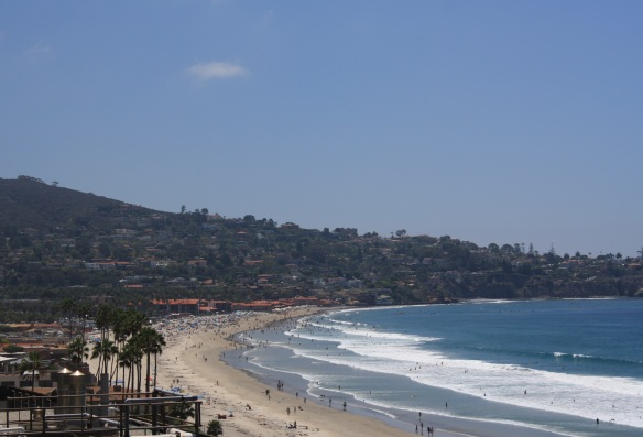 The always-popular La Jolla Shores beaches have been particularly packed this summer, as beachgoers enjoy notably warm waters.